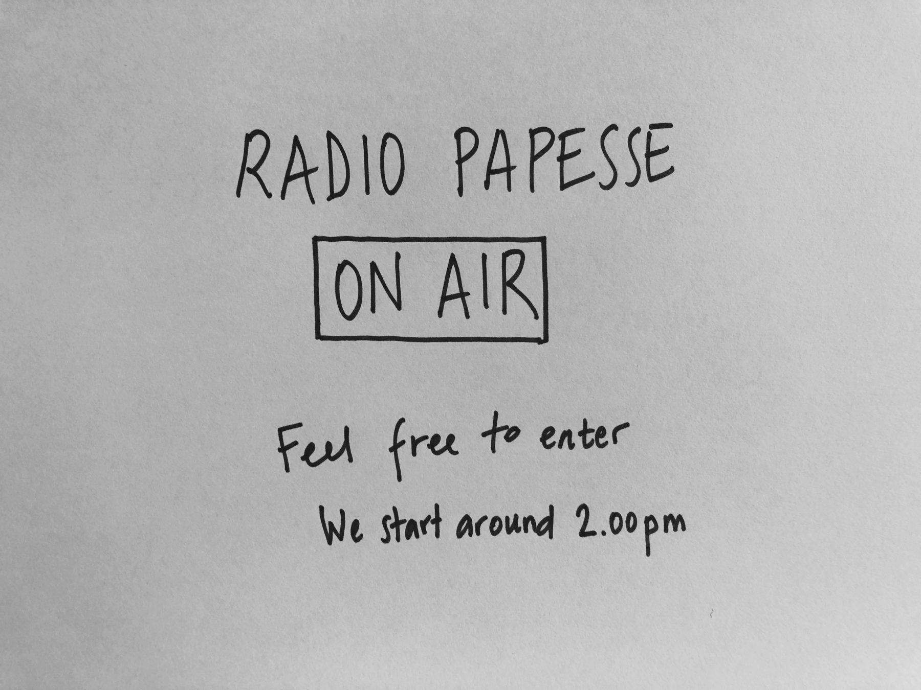 Radio Papesse - Pratiques d'hospitalité